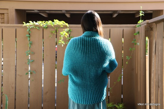 Spring / Fall Seasoned Crochet Easy Going Shrug Free Pattern for an adult woman - kNot mY deSigns