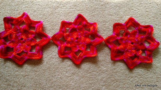 Crochet Reddie Flower hotpad - A kitchen Decor item and use for you home - kNot mY deSigns