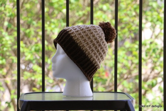 Winter / Fall Seasoned Crochet Waffle Look Beanie Free Pattern for children, adult woman, everyone - kNot mY deSigns