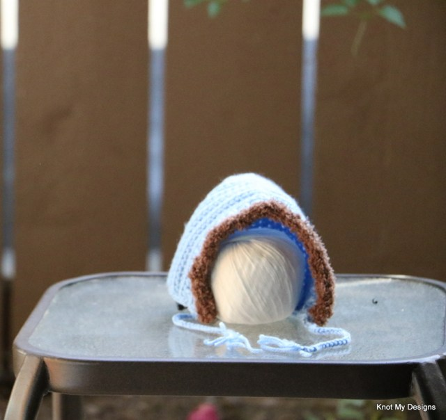 Crochet Furry Gnome Baby Hat Free Pattern for New Born Baby - Knot My Designs