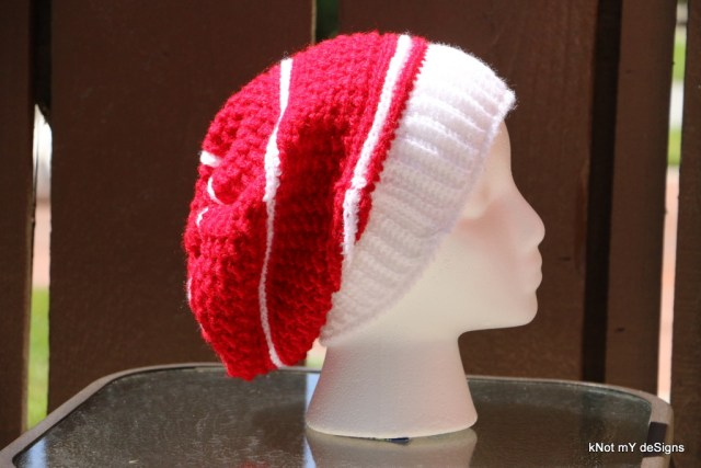 Crochet Christy Moss Slouch Hat for Christmas for an adult woman - Knot My Designs