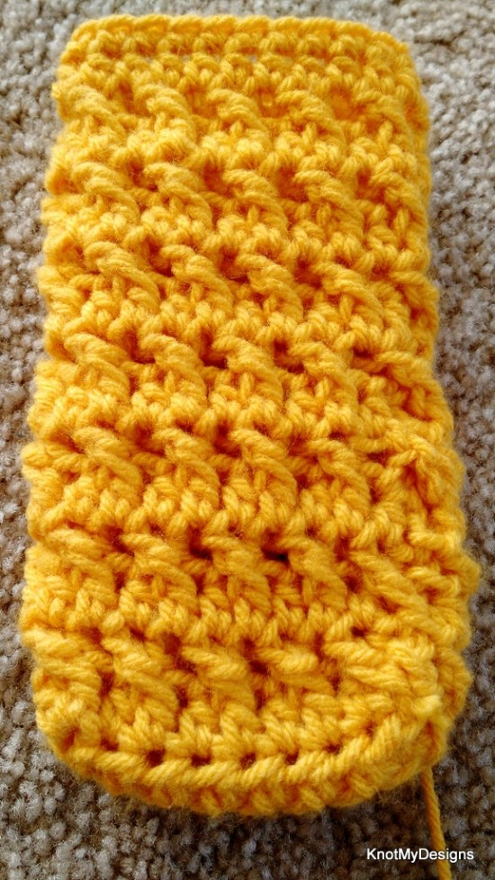 Crochet Free Yellow Scrubby Goggles Pouch Pattern - Knot My Designs