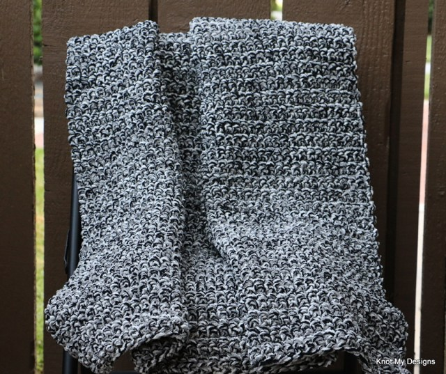Crochet Inkwell Baby Blanket for stroller free Pattern - kNot mY deSigns