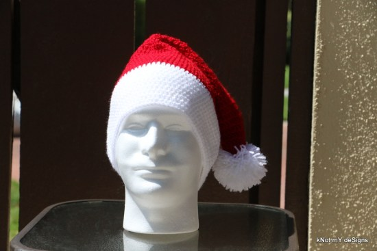 Unisex Crochet Santa Claus's Hat Free Pattern - kNot mY deSigns