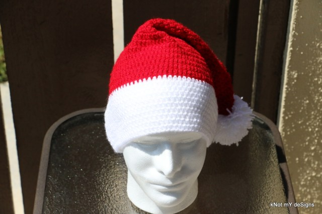 Crochet Unisex Santa Claus's Hat free pattern - Knot My Designs