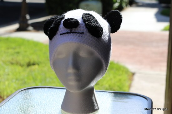 Winter/Fall Seasoned Crochet Toddler's Panda Hat Free Pattern - kNot mY deSigns