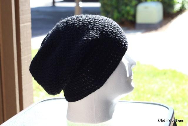 Winter/Fall/Spring Seasoned Crochet Men's Slouch Beanie Free Pattern - Knot My Designs