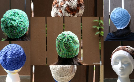 Crochet Winter/Fall Seasoned Slouch Hats for an adult woman - Knot My Designs