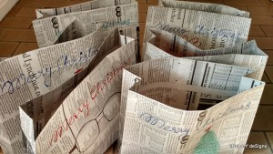 Newspaper Paper Bags - Do It Yourself Crafts - Knot My Designs