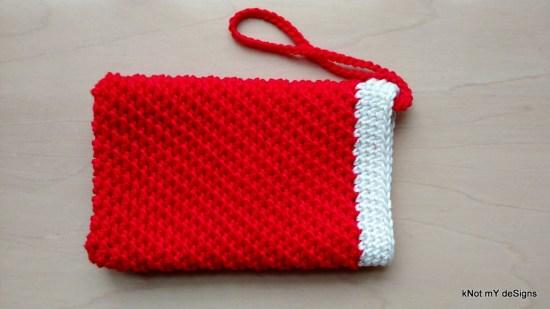 Crochet Dijon Cell Phone Wristlet Pouch Free Pattern - Knot My Designs