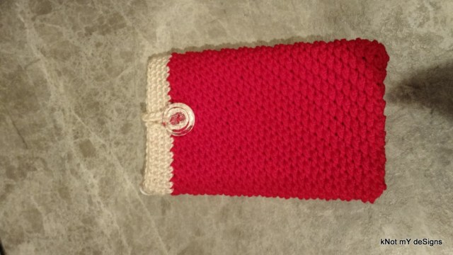 Crochet Dijon Cell Phone Wristlet Pouch Free Pattern - Knot My Designs