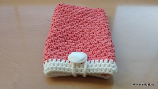 Crochet Griddle Stitched Cell Phone Wristlet Pouch for a female - Knot My Designs