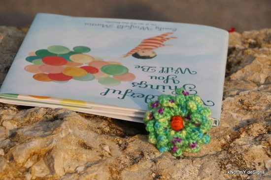 Crochet Flower Power Bookmark - kNot mY deSigns
