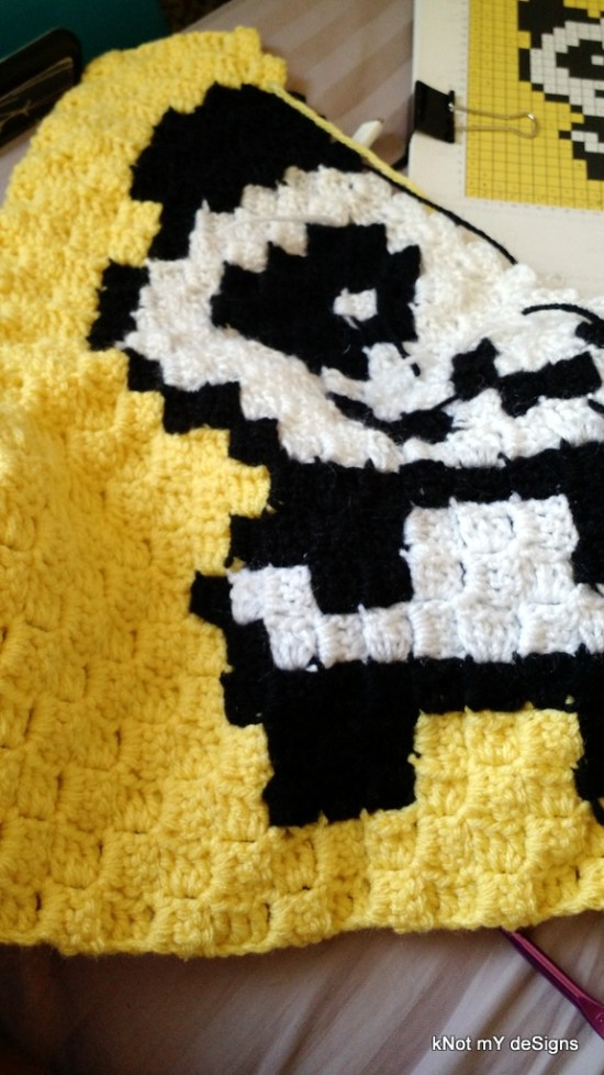 C2C Panda Work-In-Progress Free Pattern - Knot My Designs