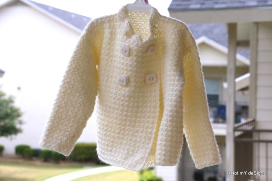 Crochet Creamy Cute Toddler Sweater Free Pattern - Knot My Designs