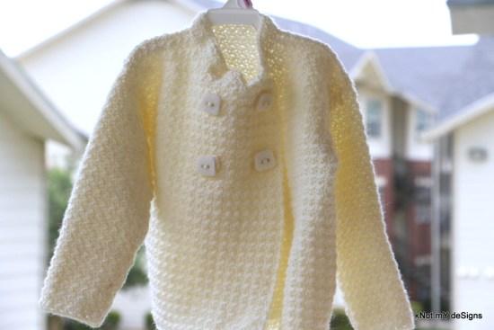 Crochet Creamy Cute Toddler Sweater Free Pattern - Knot My Designs