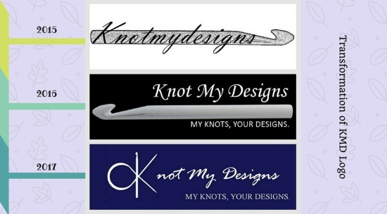 Transformation of Knot My Designs [KMD] Logo - My Knots, Your Designs.