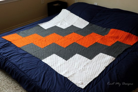 Crochet C2C Zig-Zag Angled Throw Free Pattern - Knot My Designs
