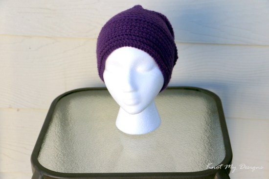 Crochet Sincerely Ribbed Adult Beanie Free Pattern - Knot My Designs