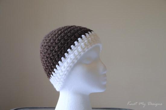 Crochet Vanilla Mocha Child Beanie Free Pattern - Knot My Designs