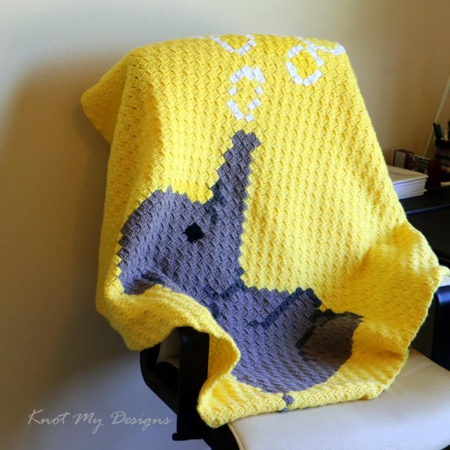 My Hobby Is Crochet: Free Crochet Pattern + Graph: Elephant C2C ... | 640x640