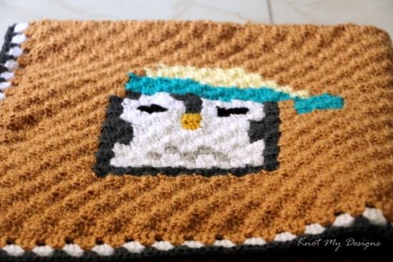 Crochet C2C Penguin Mood - Sleepy Deepy 25x25 Grid - Knot My Designs