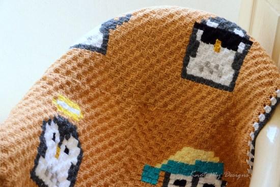 Crochet C2C Penguin Moods Baby Blanket - Knot My Designs