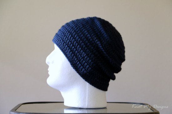 Crochet Elemental Adult Male Beanie Free Pattern - Knot My Designs