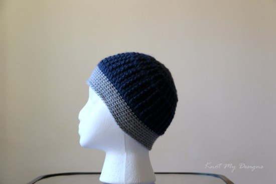 Crochet Furrowed Toddler Beanie Free Pattern - Knot My Designs