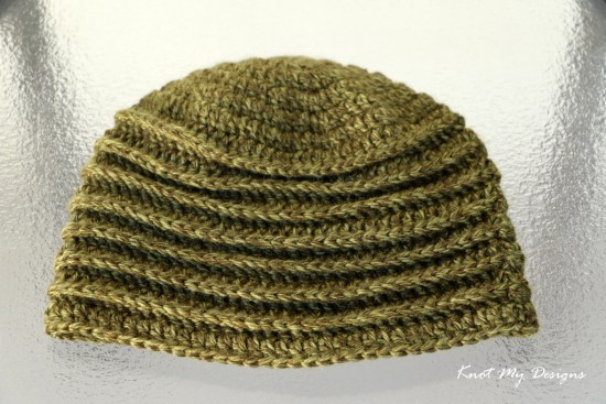 Crochet Olive BackPost Slouch Beanie Free Pattern - Knot My Designs