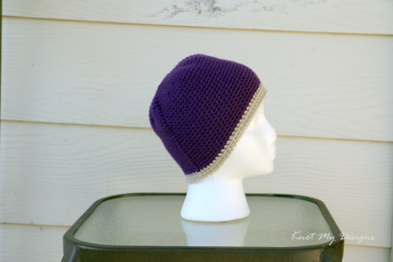 Crochet Simple Mom-Daughter Beanie Free Pattern - Knot My Designs