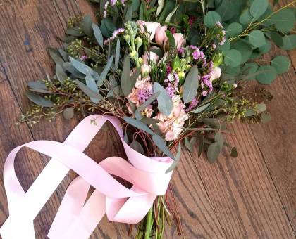 Pink & Peach Bride Bouquet