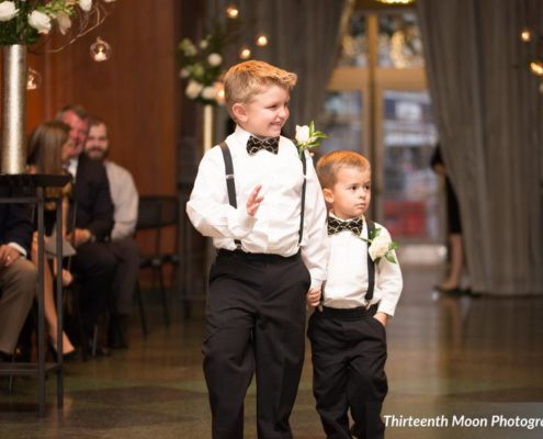PBD shares picture of Ringbearers with Bowties at 21C Museum Hotel