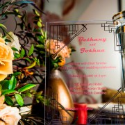 metal and gold wedding inspiration table decor