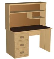 student desk hutch plans