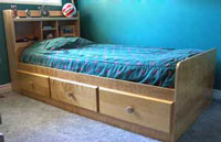 twin bed bookcase headboard plans