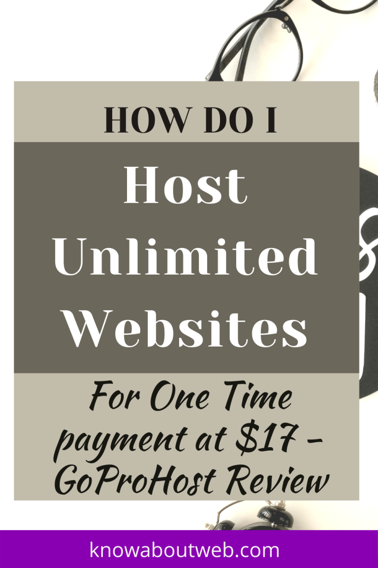 GoProHost Review - How Do i Host UNLIMITED Websites for $17