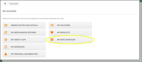 Prestashop Order Return Manager Addon- User Manual