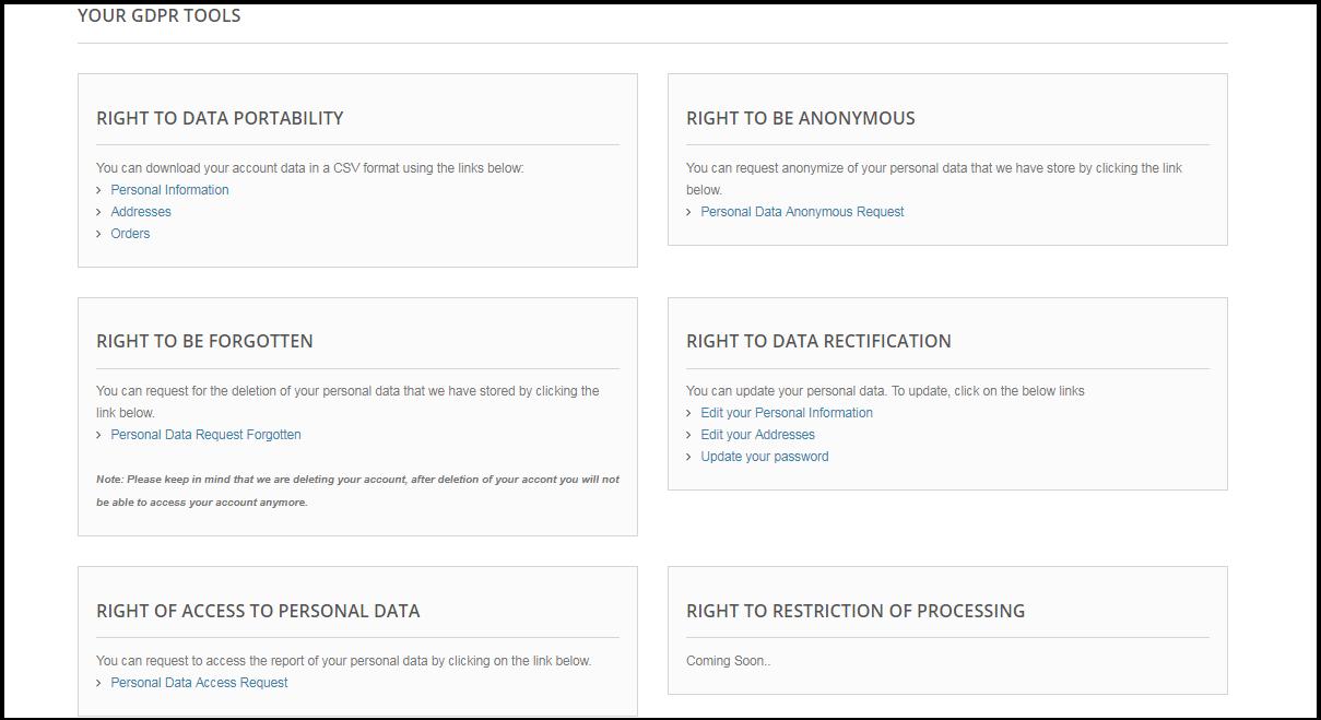 PrestaShop GDPR Module