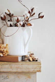 Autumn fireplace mantel decoration