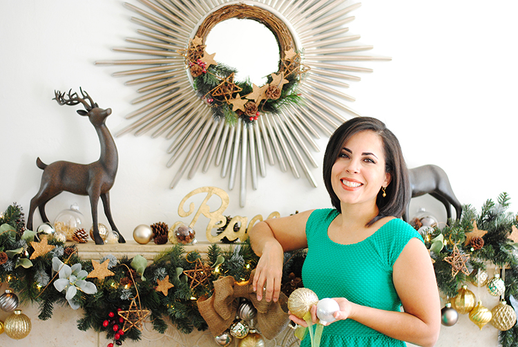 Home Depot Holiday Style Challenge 2014 Mantle Gloribell Lebron