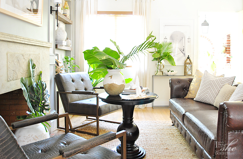 Summer inspired living room coffee table