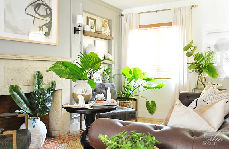 Summer inspired living room decor