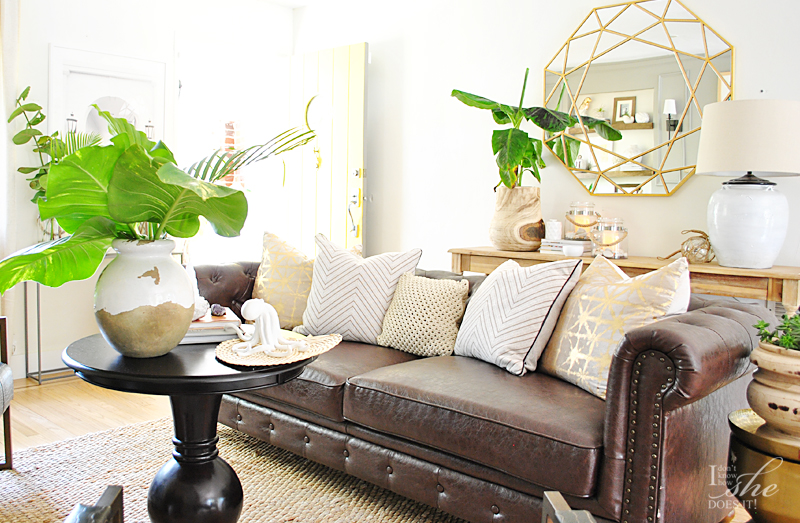 Summer inspired sofa pillows