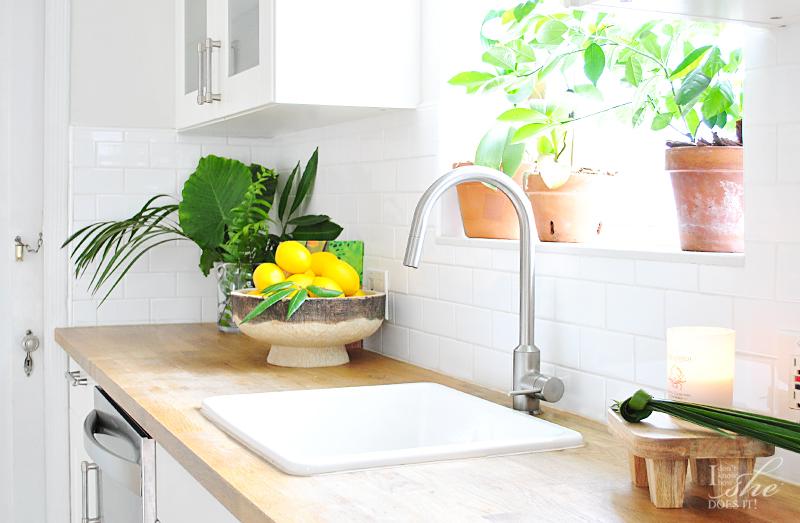 Summer inspired kitchen decor