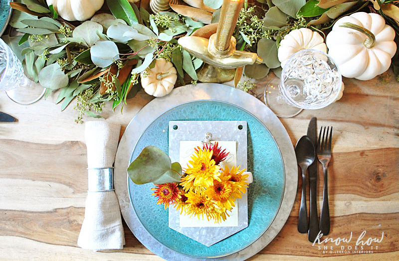 Galvanized alternative Thanksgiving Table