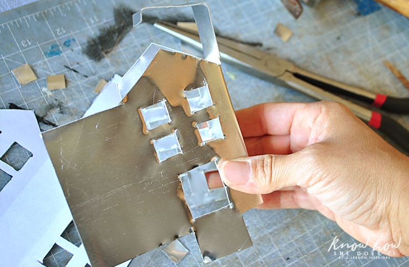 little metal houses taking form