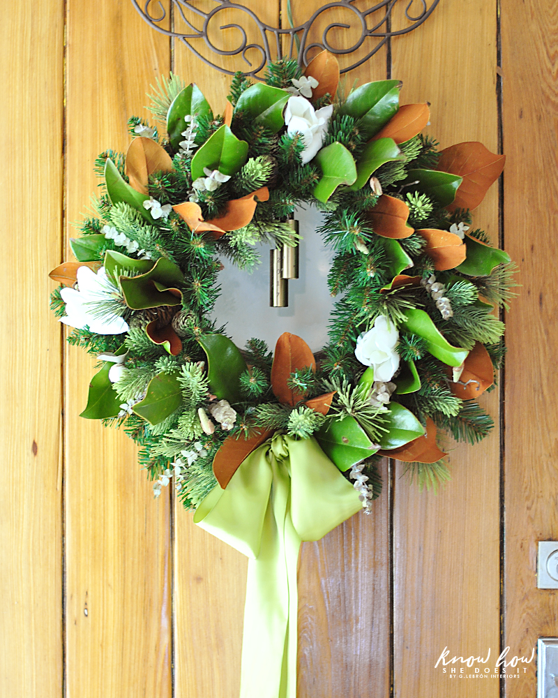 Magnolia leaves fuller wreath 2