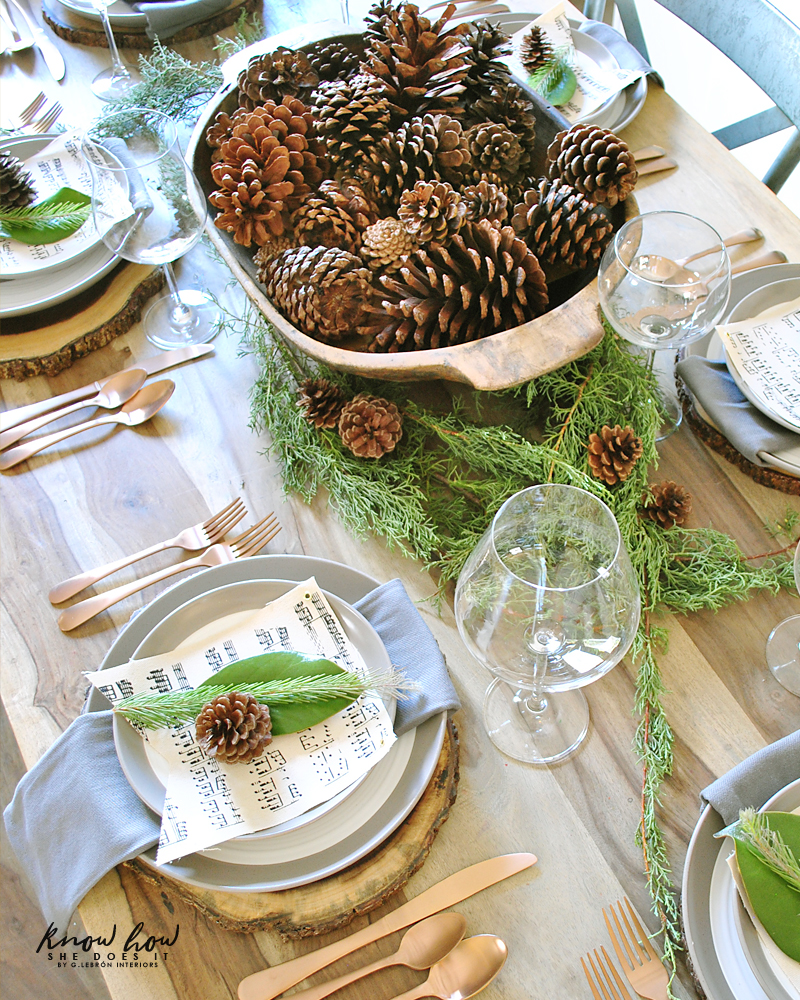 Holiday Small Home Tour dinner table