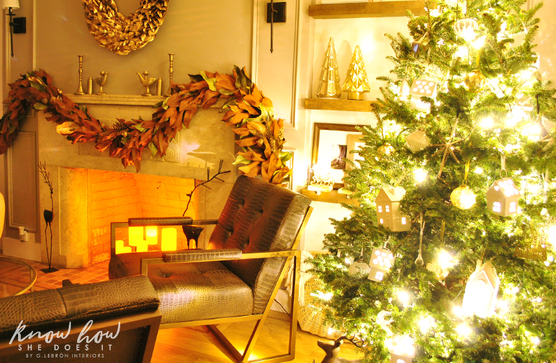 Holiday Small Home Tour mantle night 2